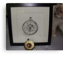 clock & clock Canvas Print