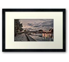 A VIEW TO A BRIDGE Framed Print