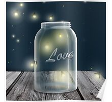 Midnight Firefly Mason Jar Poster