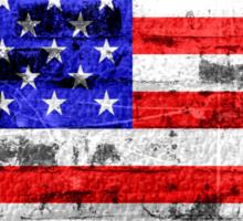 American Flag Vintage Sticker