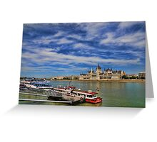 The Parliament on Danube river Greeting Card