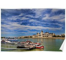 The Parliament on Danube river Poster