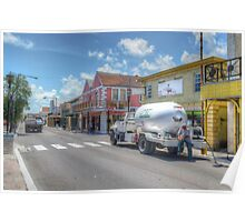 Gas delivery in Bay Street - Downtown Nassau, The Bahamas Poster