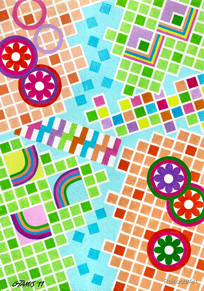 COLOR AND SHAPE WITH SQUARS 01 by RainbowArt