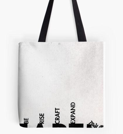 99 Steps of Progress - Calligram Tote Bag
