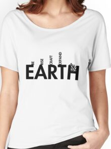 99 Steps of Progress - Calligram Women's Relaxed Fit T-Shirt
