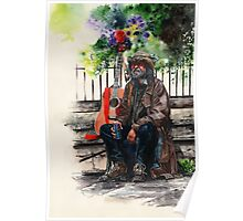 Glastonbury Man Poster