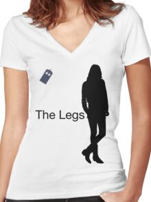 The Legs Women's Fitted V-Neck T-Shirt