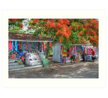 Tourist Shops at Fort Charlotte in Nassau, The Bahamas Art Print