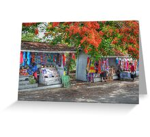 Tourist Shops at Fort Charlotte in Nassau, The Bahamas Greeting Card
