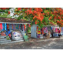 Tourist Shops at Fort Charlotte in Nassau, The Bahamas Photographic Print