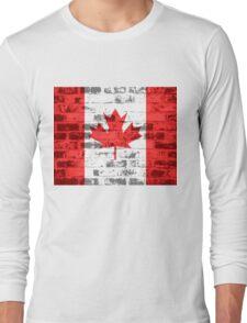 Canada Flag Vintage Long Sleeve T-Shirt