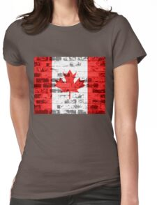 Canada Flag Vintage Womens Fitted T-Shirt