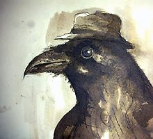 crow ink sketch by MrLone