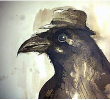 crow ink sketch Photographic Print