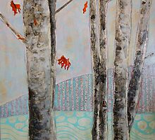 Mosquito Creek, mixed media on board by Sandrine Pelissier