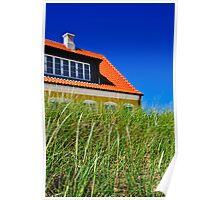 Typical Danish house in Jutland, Denmark Poster