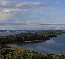 Typical Finnish scene at Lake Vesijärvi, Hollola by Stephanie Owen