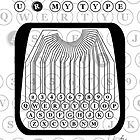 U R MY TYPE old typewriter message by Veera Pfaffli