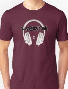 LISTEN (white noise edition) Unisex T-Shirt