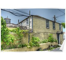 Old house at the corner of West Hill Street and Blue Hill Road in Nassau, The Bahamas Poster