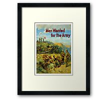 Men Wanted For The Army Framed Print