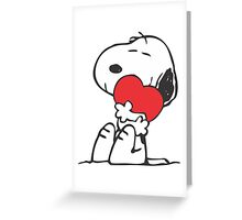 Snoopy Shares Love Greeting Card