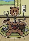 Teddy Bear And Bunny - Bearbot by Brett Gilbert