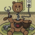 Teddy Bear And Bunny - Bearbot by Brett Gilbert