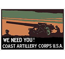 We need you! Coast Artillery Corps USA Photographic Print