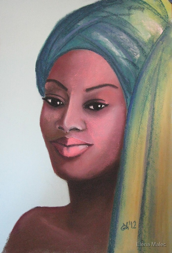 African beauty 6 by Elena Malec