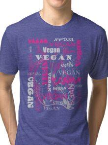 Vegan Type - pink Tri-blend T-Shirt
