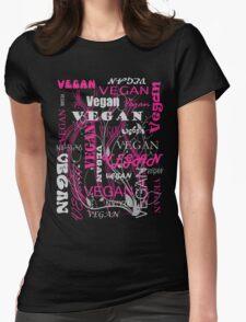 Vegan Type - pink T-Shirt