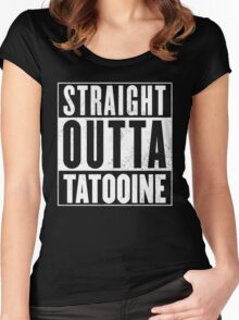 STRAIGHT OUTTA COMPTON - TATOOINE - STAR WARS  Women's Fitted Scoop T-Shirt