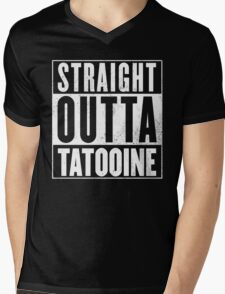 STRAIGHT OUTTA COMPTON - TATOOINE - STAR WARS  Mens V-Neck T-Shirt
