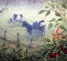 Tomatoes in the Mist - detail by Lee Baker DeVore