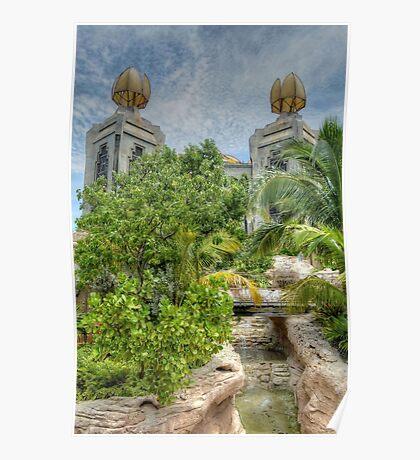 The water park at Atlantis in Paradise Island, The Bahamas Poster