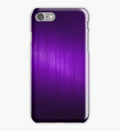 Purple Brushed Aluminum Metallic Look iPhone Case/Skin