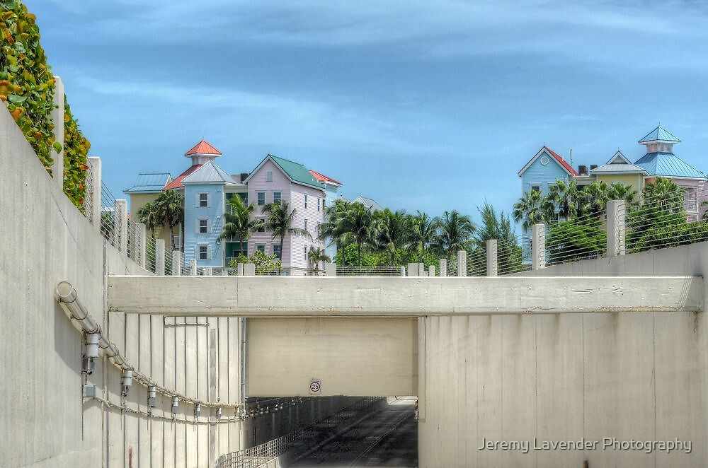 The Tunnel & Harbour Village at Paradise Island in The Bahamas by Jeremy Lavender Photography