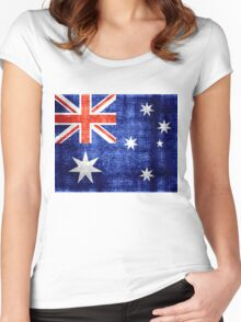 Australia Flag Vintage Women's Fitted Scoop T-Shirt