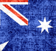 Australia Flag Vintage Sticker