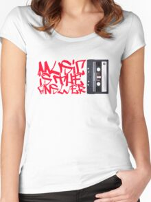 Music is the Answer Women's Fitted Scoop T-Shirt