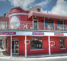 Ice Cream Parlor on Bay Street in Downtown Nassau, The Bahamas by 242Digital