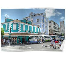Bay Street & George Street in Downtown Nassau, The Bahamas Poster