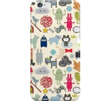 Pastel Colors Retro Assorted Shapes Pattern iPhone Case/Skin