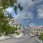 Shirley Street and Market Street in Downtown Nassau, The Bahamas by 242Digital