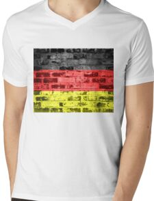 Germany Flag Vintage Mens V-Neck T-Shirt