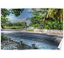 East Bay Street & Village Road at Montagu - Nassau, The Bahamas Poster
