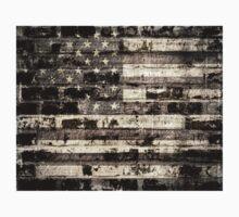 Old American Flag Kids Tee