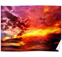 Blazing Sky Poster